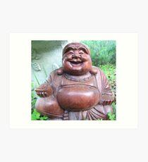 Happy Buddha  Art Print