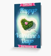 Happy Valentine's Day Tropical Island  Greeting Card