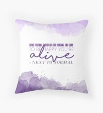 """Light"" - Next to Normal Throw Pillow"
