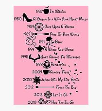 Disney Princess Songs  Photographic Print
