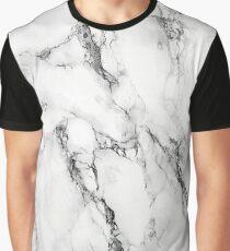 Weisser Marmor Grafik T-Shirt