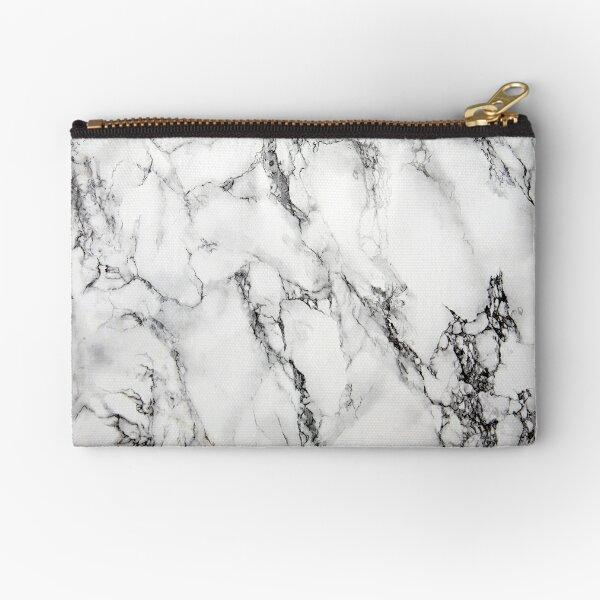 White Marble  Zipper Pouch