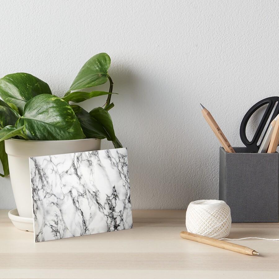 White Marble  Art Board Print