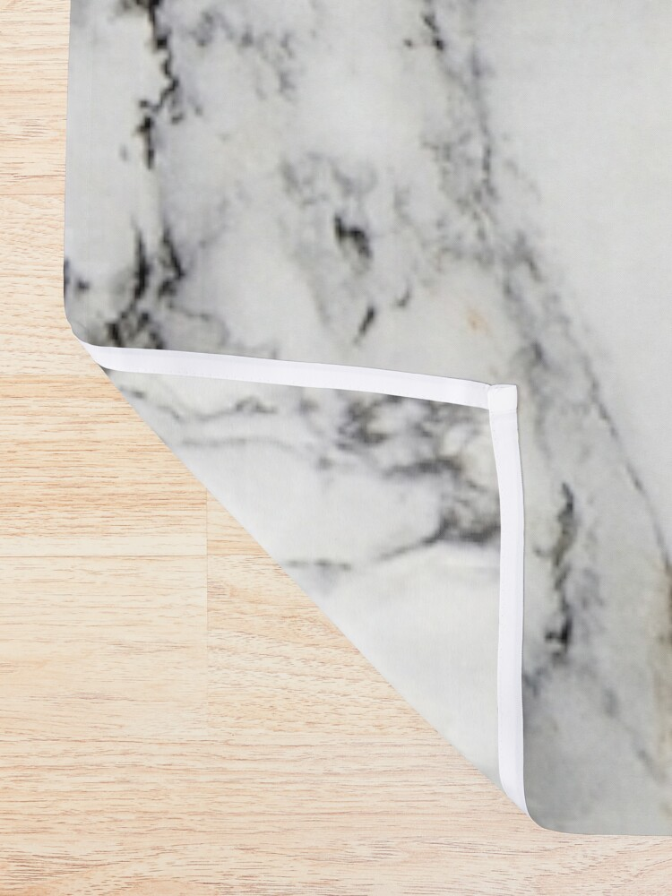 Alternate view of White Marble  Shower Curtain