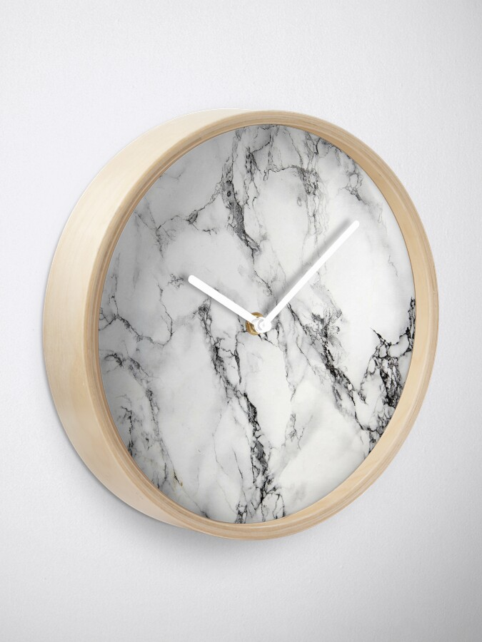 Alternate view of White Marble  Clock