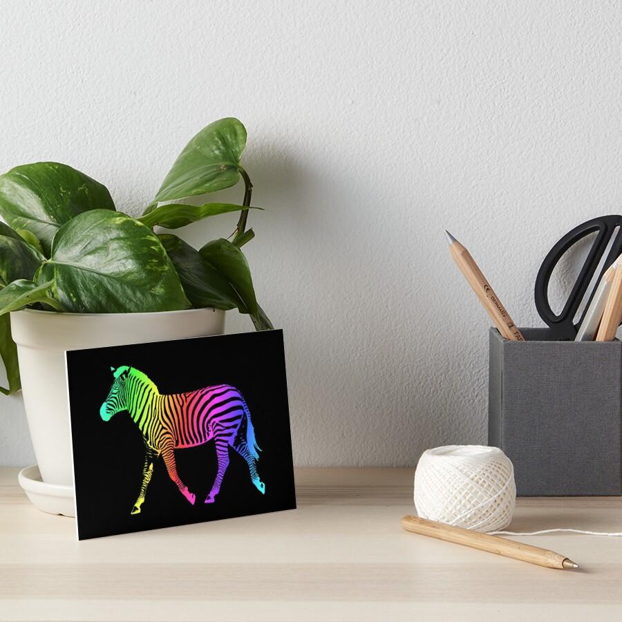 Studio Dalio - Inverted Rainbow Zebra Art Board