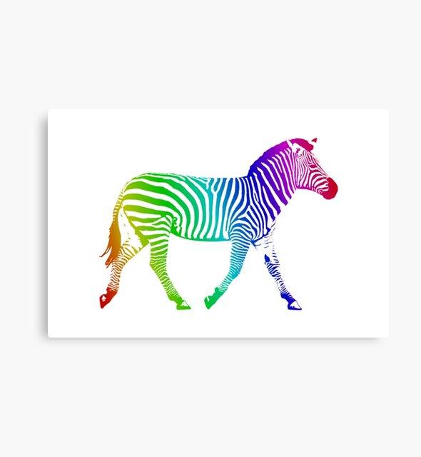 Studio Dalio - Rainbow Zebra Canvas Print