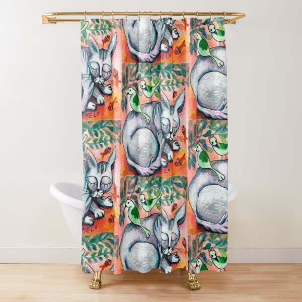 Sleepy Cat Shower Curtain