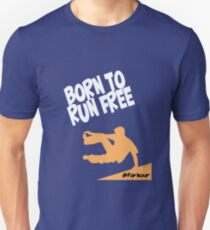 Born To Run Free - Parkour Design T-Shirt