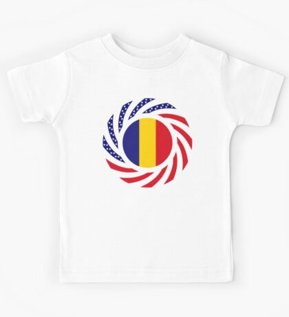 Romanian American Multinational Patriot Flag Series Kids Clothes