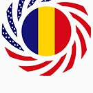 Romanian American Multinational Patriot Flag Series by Carbon-Fibre Media