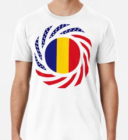 Romanian American Multinational Patriot Flag Series Premium T-Shirt