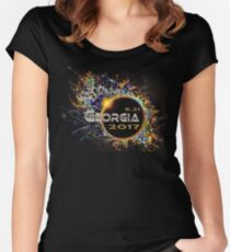 2017 Eclipse Georgia Women's Fitted Scoop T-Shirt