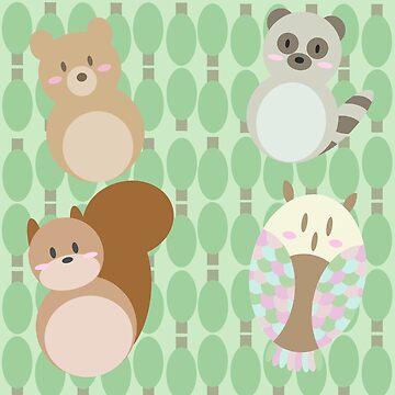 Forest Friends by SydneyLudwick