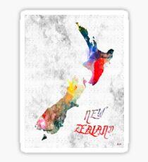 New Zealand Grunge Map Sticker