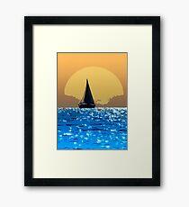 Sailing to the horizon Framed Print