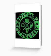 Saint Patrick's Day Green Badge Logo Greeting Card