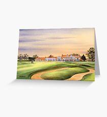 Muirfield Golf Course 18Th Green Greeting Card