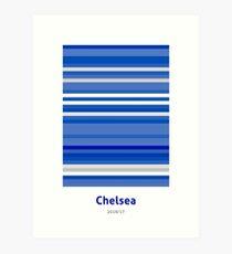 Chelsea 2016/17 Season in Lines Art Print