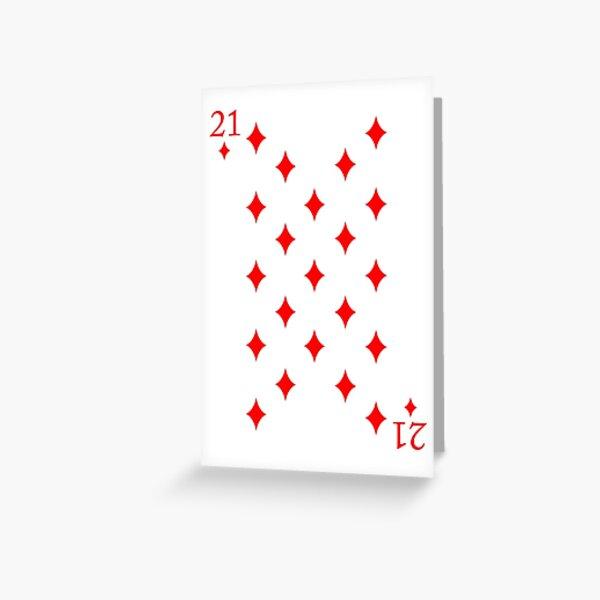 21 Diamonds Birthday Card Greeting Card