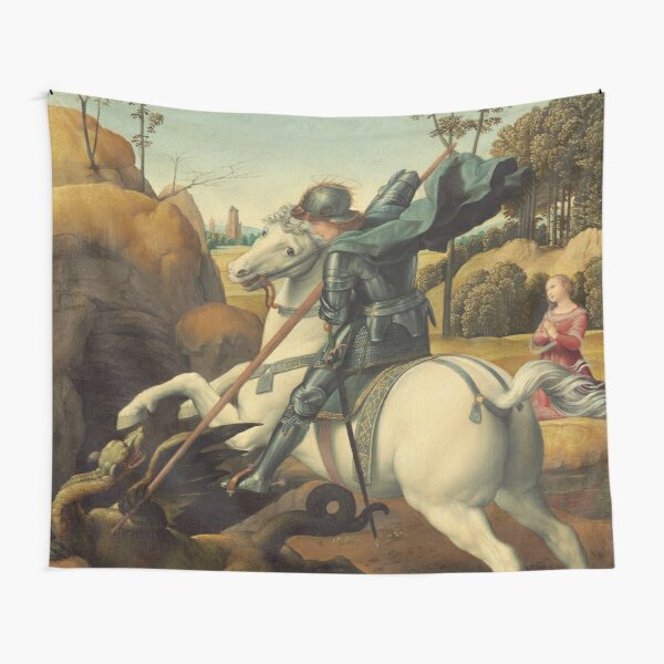 Saint George and the Dragon Oil Painting By Raphael Tapestry