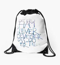 Det er i ham vi lever Drawstring Bag