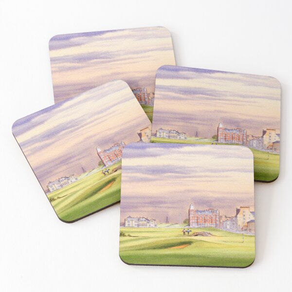 Saint Andrews Golf Course 17th Green Coasters (Set of 4)