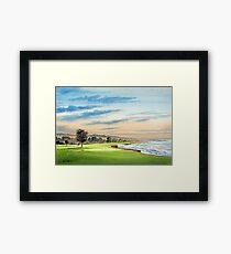 Pebble Beach Golf Course 18Th Hole Framed Print