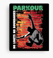 Parkour Design - No Limits No Boundaries Canvas Print