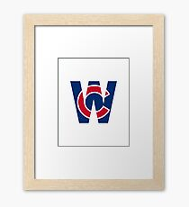 Cubs W Chicago Cubs W with Red/Blue C Framed Print