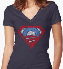 Super Obama Women's Fitted V-Neck T-Shirt
