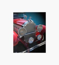 Antique Vintage Touring Car Art Board