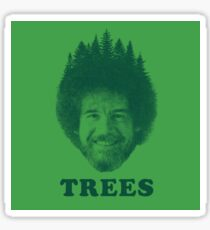 BOB ROSS HAPPY TREES STICKER Sticker