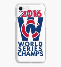 World Series Champs Chicago Cubs 2016 iPhone Case/Skin