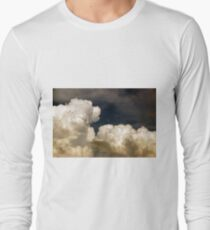 saturated storm clouds against the dark sky, dark blue tint T-Shirt