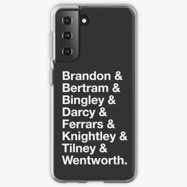 Men of Jane Austen Samsung Galaxy Soft Case