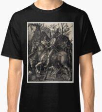 Camiseta clásica Albrecht Dürer Knight, La Muerte y el Diablo