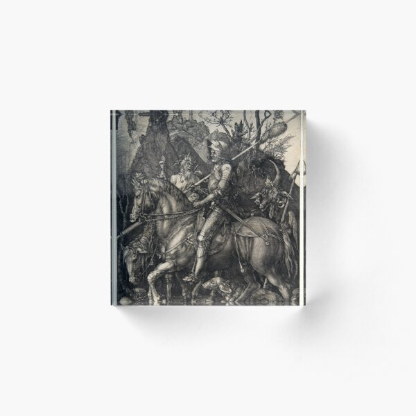 Albrecht Dürer Knight, Death and the Devil Acrylic Block