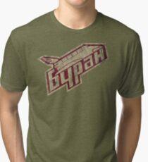 Space Soviet Symbol - V02 Tri-blend T-Shirt