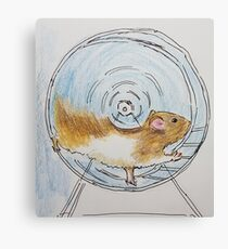 Hamster moving  Canvas Print