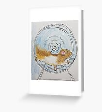 Hamster moving  Greeting Card