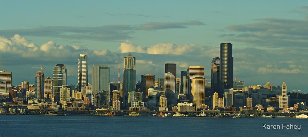 Seattle Skyline by Karen Fahey
