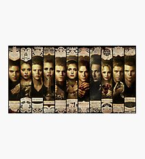Season 4 of The Vampire Diaries Photoshoot: Cast Photographic Print