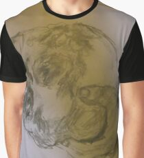 Copy: Hand holding skull -(040817)- Pencil: Graphite Stick Graphic T-Shirt