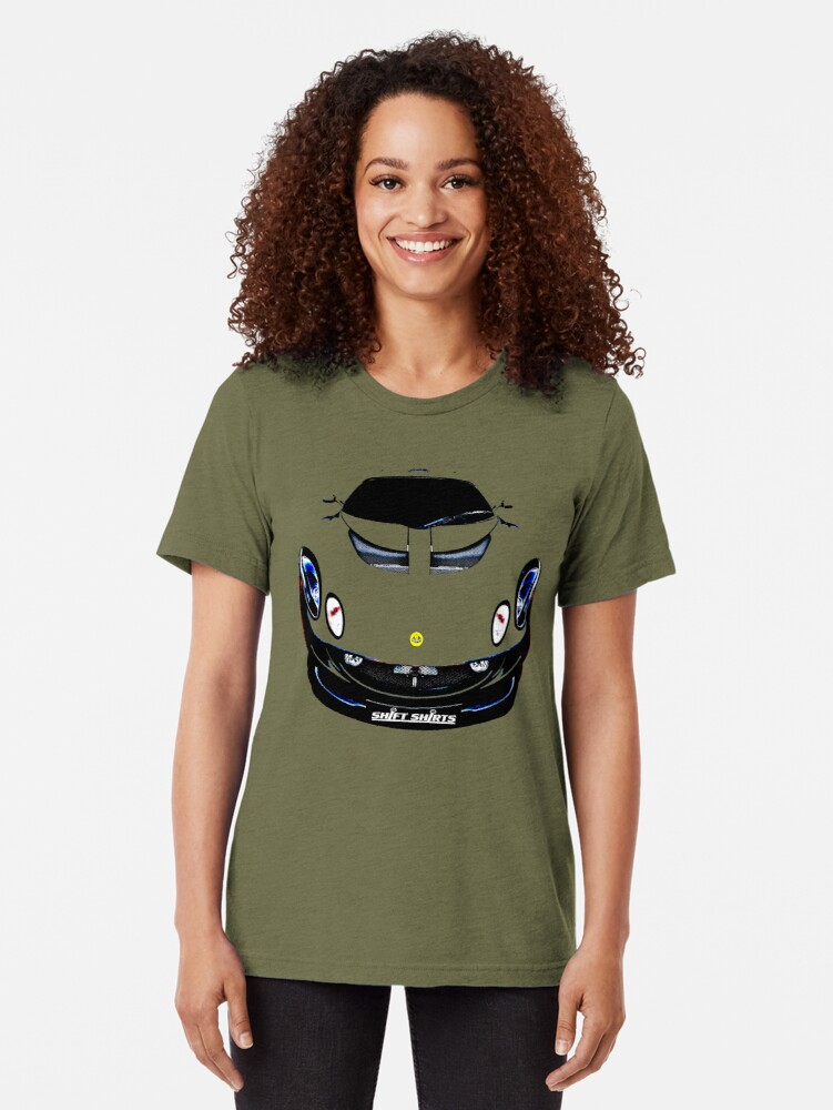 Alternate view of Bare Minimum – Lotus Exige Inspired Tri-blend T-Shirt