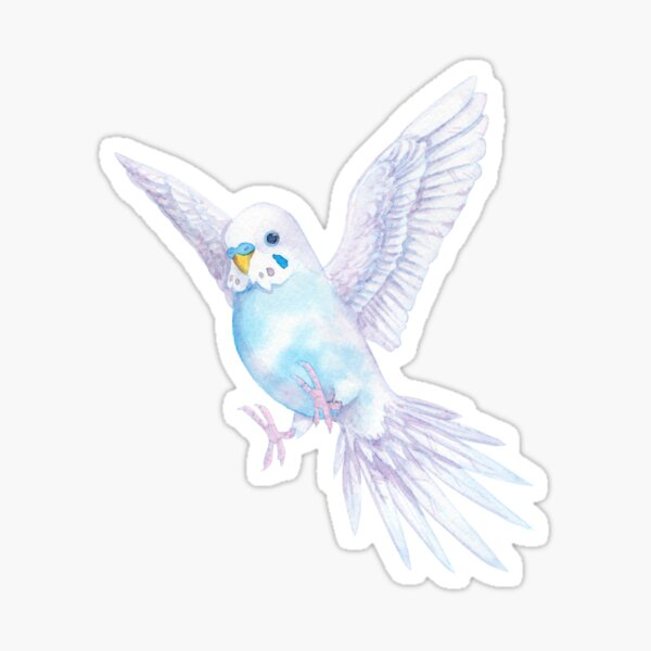 Cloud Budgie Sticker