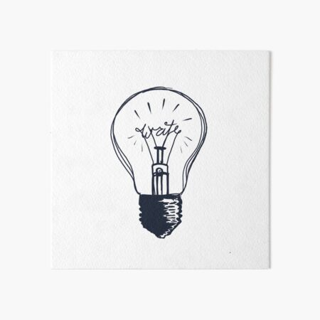The Write Light Art Board Print