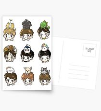 EXO OT9 and Pets Postcards