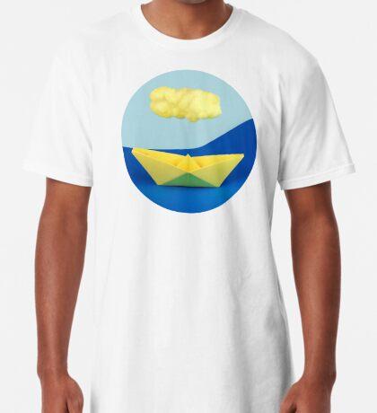 Die gelbe Wolke über dem gelben Schiff Longshirt