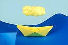 Die gelbe Wolke über dem gelben Schiff von josemanuelerre